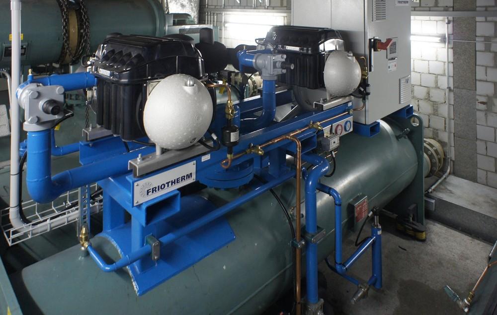 "TMC, Glattbrugg, CH, Chiller retrofit with 2 ""Turbocor"" compressors"