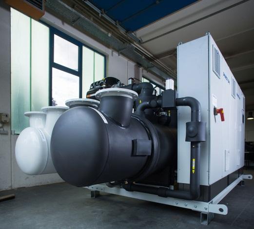 Flüssigkeitskühler mit Danfoss Turbocor Verdichtern, wassergekühlt